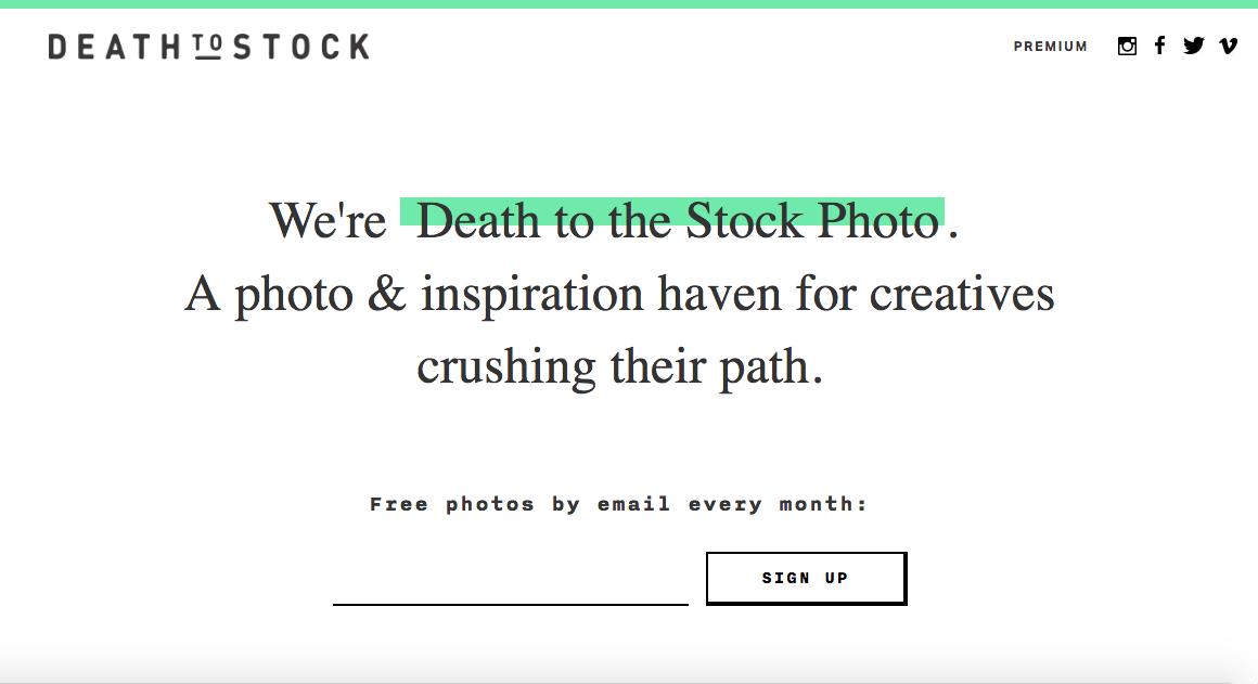 Death to stock - bancos de imagens free