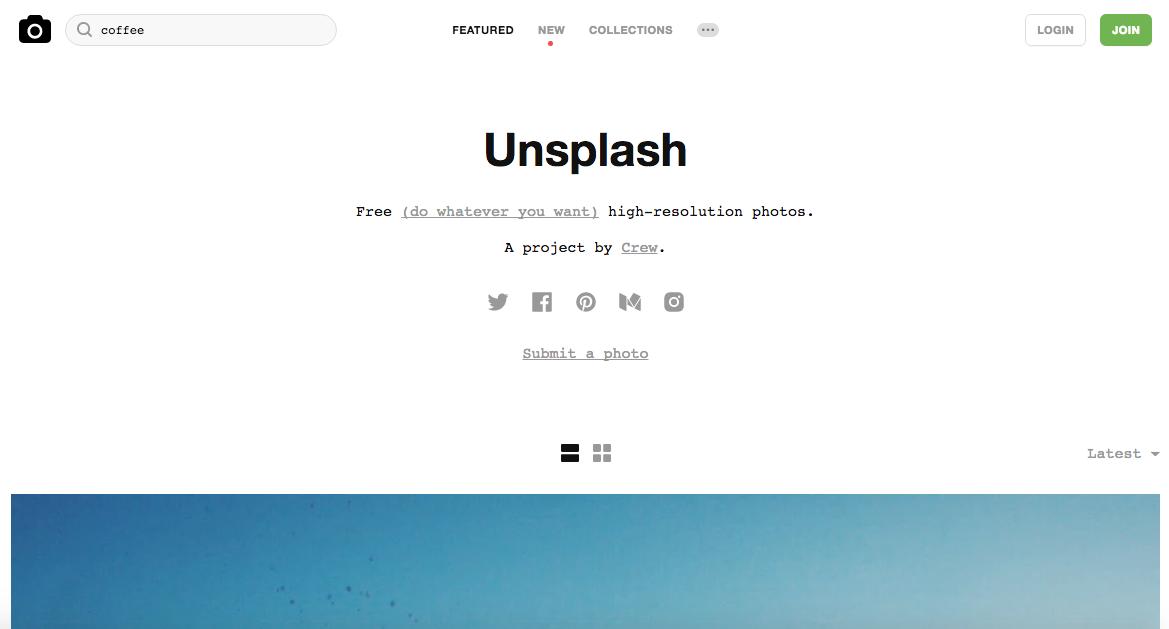Unsplash - bancos de imagens free